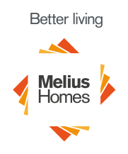 MeliusHomes: Better living logo